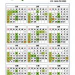 有限会社清地29年度営業カレンダー